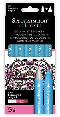 Spectrum Noir - Colorista Arts & Craft Double Ended Marker Pens Set 4 (5 Pack)