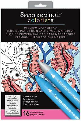 Spectrum Noir - Colorista A4 Under The Sea Marker Pen Colouring Paper Pad