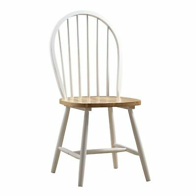 Brand New Boraam 31316 Farmhouse Chair, White/Natural, Set of 2