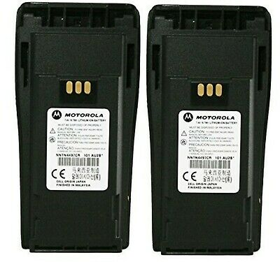 MOTOROLA Orignal OEM NNTN4497CR 2 Pack 7.2 Volts LI-ION 1.8Ah High Capacity Batt