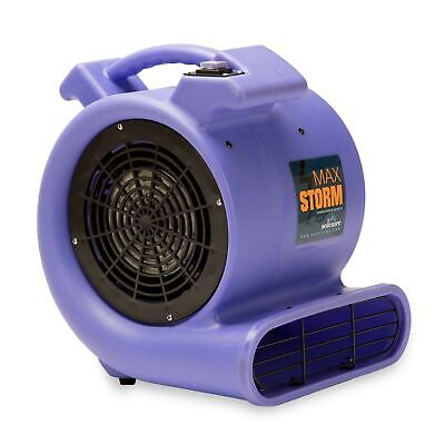 Max Storm Purple 2550 CFM Durable Lightweight Carpet Drying Fan Blower Air Mover