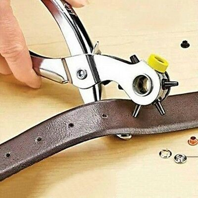 5 Sizes Holes Punch Belt Heavy Duty Leather Hand Pliers Tool Eyelets Snaps
