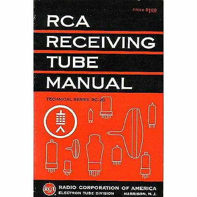 Full Set of 19 RCA Manuals for Transmitting & Receiving Tubes - RCA Radio Course