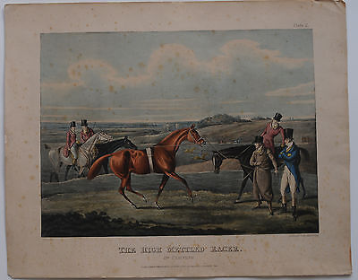 In Training  The high mettled Racer Farblithographie H Alken 1821 Longieren