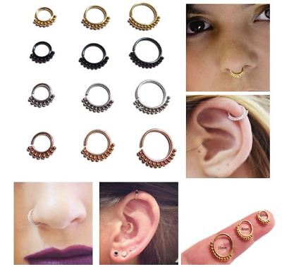 Stainless Steel Eyebrow Cartilage Earring Tragus Septum Nose Ring Hoop Studs