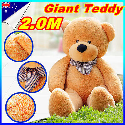 2M NEW Brown Giant Huge Cuddly Stuffed Plush Teddy Bears Animal Doll Teddies