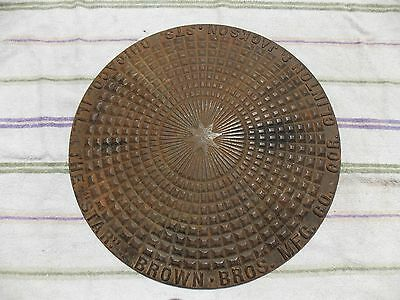 1880s Brown Brothers Mfg. Co. manhole man hole coal hole coalhole cover antique