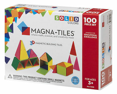 Magna-Tiles Solid Colors 100 pc. Set - FREE & FAST SHIPPING