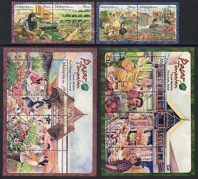 MALAYSIA MNH 2010 Local Markets Stamps + Minisheets