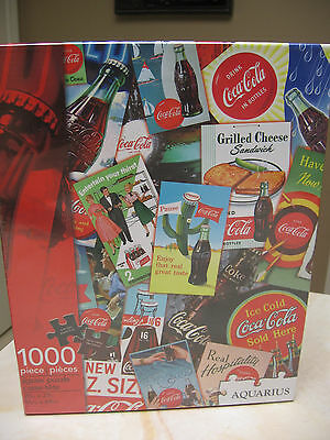 Coca Cola 1000 Piece  Jigsaw Puzzle By Aquarius 20 X 27 Inches