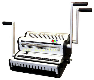 New Wire Binder Puncher Combo Punching Binding Closer Pitch 3:1 & 2:1 All-in-One
