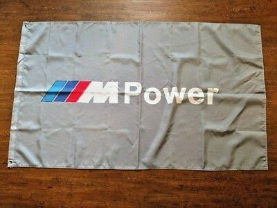 Bmw M Power Grey Flag 3X5Ft Bmw German 1M M2 M3 M4 M5 M6 M235I I8