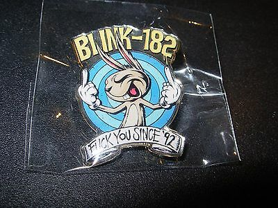 BLINK 182 Classic F*ck You Bunny Logo Enamel Pin badge button merch tour lapel