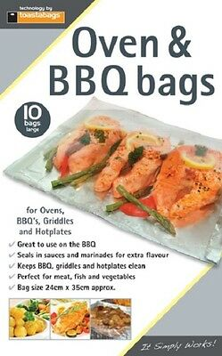 Toastabags Oven BBQ & Grill Bags Pack of 10 Large Size 24cm x 35cm
