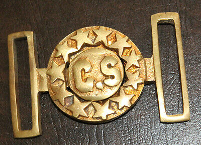 Antique Style Military Civil War Confederate CS Belt Buckle Brass Reproduction