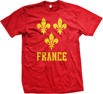 France Symbol French Distressed Country Francaise From Born FRA FR Men's T-Shirt