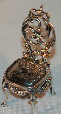 INCREDIBLE~ANTIQUE STERLING SILVER CHAIR` late 1800'S- FIGURAL