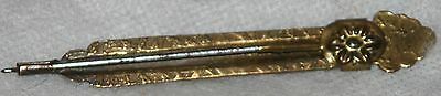 ANTIQUE Victorian BRASS RETRACTING SEWING,CROCHET HOOK~c1890