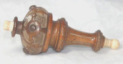 Original ANTIQUE c1900~~Edwardian HAND CARVED SEVANTS BELL SWITCH~~
