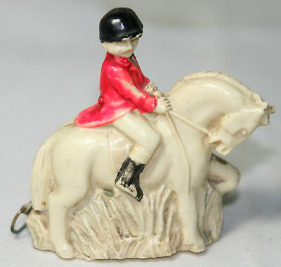 Original Antique c1930 FIGURAL~RIDER ON HORSE Tape MEASURE~~CELLULOID,NOVELTY,