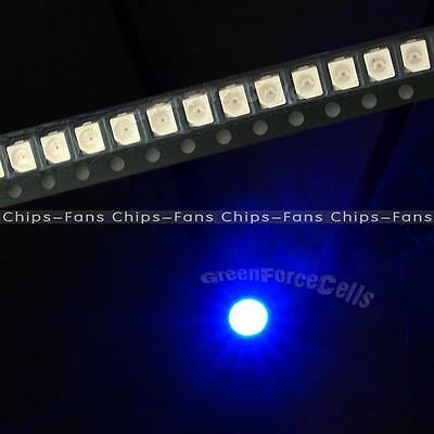 100PCS 3528 Blue Ultra Bright Light Diode 1210 SMD LED  PLCC-2 20mA LED Light CF