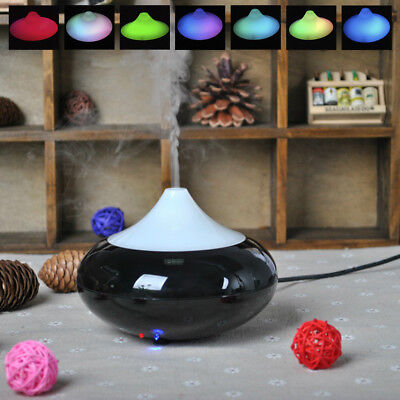 New Ultrasonic Essential Oil Aroma Diffuser Purifier Air Mist Aromatherapy Black