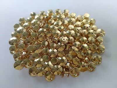 100pcs gold locking flathead pin back keeper clutch clasp for school club sport