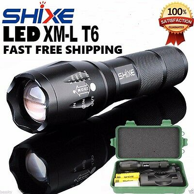 XML-T6 Police Tactical Flashlight Zoom LED Adjustable Torch Lamp 5000LM AU0001