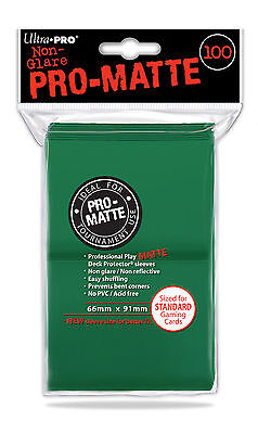 100 ULTRA-PRO Pro-Matte Deck Protector Standard Card Game Sleeves 84517 Green