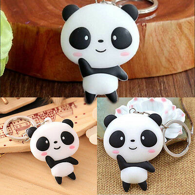 1pc Cartoon Panda Keychain Keyring Bag Pendant Silicone Key Ring Chain Hot Sale