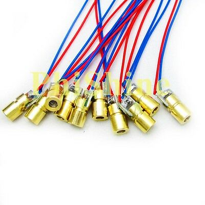 10PCS 650nm 5mW Laser Dot Diode Module Red Laser Diode Laser Head 5V φ 6mm