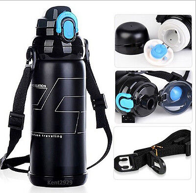 Stainless Steel Vacuum Insulated Thermos Flask Sports Water Bottle Travel Mug