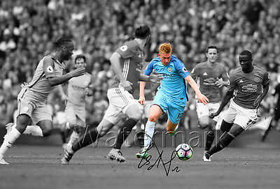 Kevin De Bruyne Signed Print Poster Photo Squad 2016 2017 Manchester Man City