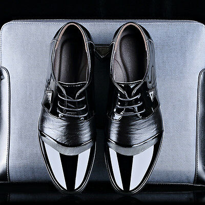 New Fashion Men's Business Oxfords Leather Shoes Casual Prom Party Dress Formal