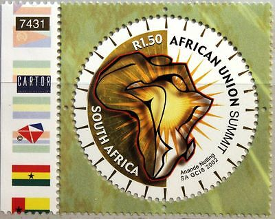 RSA SÜDAFRIKA SOUTH AFRICA 2002 1446 OAU African Union Foundation Emblem AU MNH