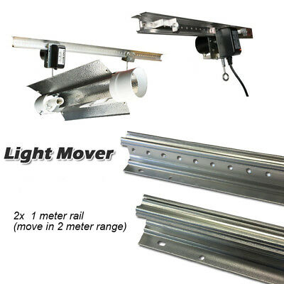 Hydroponics Indoor Automated HPS/MH LED Grow Light Reflector Mover 2x1M Rail Kit
