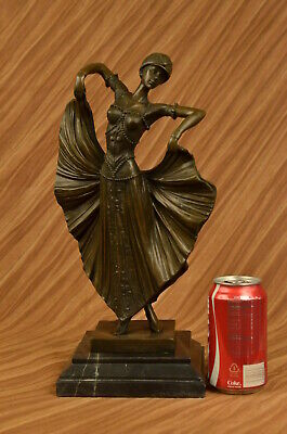 Dancer Signed Chiparus Pure Hotcast Bronze Sculpture Statue Figurine Figure DEAL