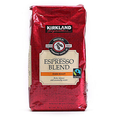Kirkland Signature By Starbucks Whole Bean Dark Roasted Coffee 907g ESPRESSO