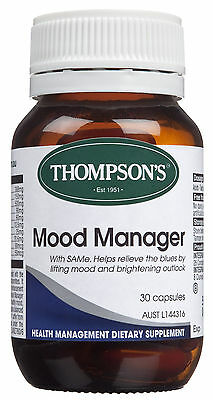 GENUINE Thompson's Mood Manager 60 capsules SAMe Helps Emotional Well Being