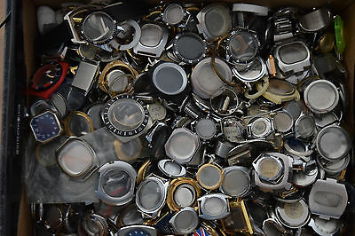 HUGE Lot of Vintage Swiss Made Watch Cases approx. 240pc / 12 Kilogram!!!