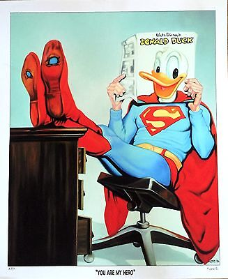 "Disney -Donald Duck/ Superman ""You are my Hero"", ARTPRINT Lim. Edition"