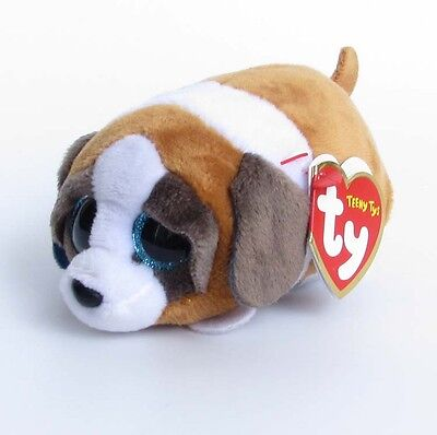 "Mini Stuffed Toys SJ112 4"" Beanie Babies TY Teeny Stackable Tys  Gypsy Brown Dog"