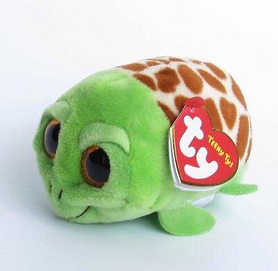 "Mini Stuffed Toys SJ113 Tys Cruiser Turtle TY Teeny Stackable 4"" Beanie Babies"