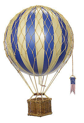 AUTHENTIC MODELS Travels Light Blue Hanging Hot Air Balloon 18 cm