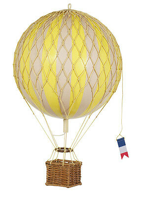 AUTHENTIC MODELS Travels Light Yellow Hanging Hot Air Balloon 18 cm