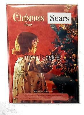 "Sear Christmas Wish Book 1966 Fridge MAGNET  2"" x 3"" art NOSTALGIC vintage"