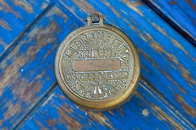 Vintage Brass Metro Meter Co. Trident Water Meter New York
