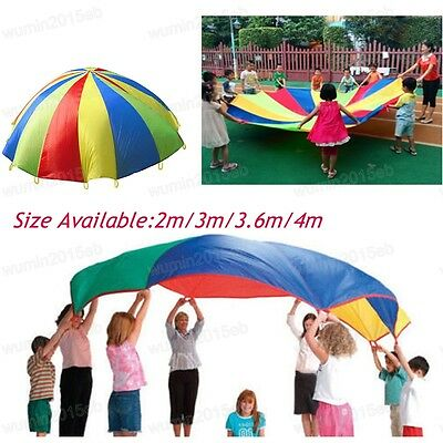 Kids Play Rainbow Parachute Children Outdoor Game Exercise Sport Tool Toy 4 Size