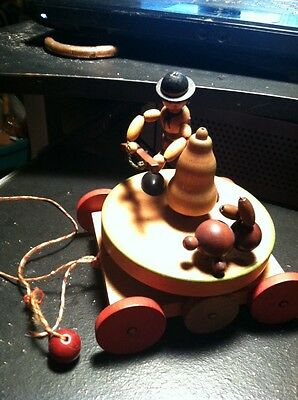 Vintage/Antique Pull Wooden Toy Awesome Made In Austria