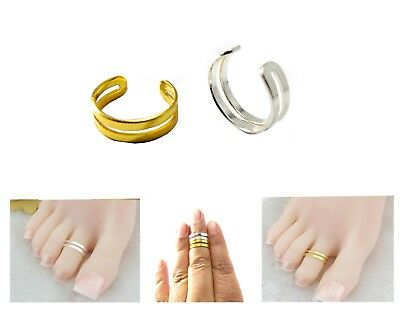 Double Band Adjustable Men/Women Silver/Gold Thumb/Toe/Finger/Knuckle Ring Band